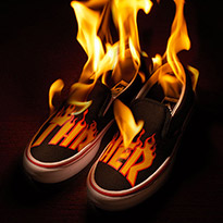 Burn Up The Streets In The Vans X Thrasher Collection
