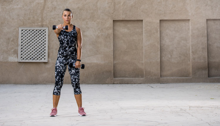 women training weights dubai