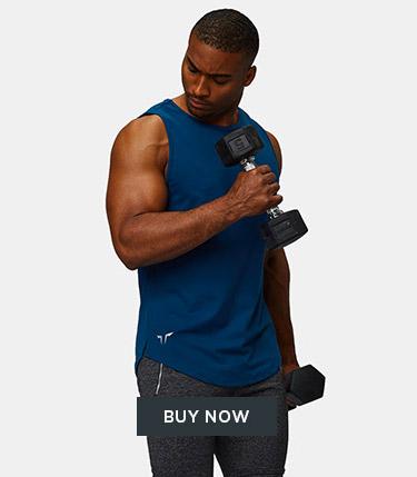 Squat Wolf - Men - Muscle Fit Tank Top - Dubai Blue