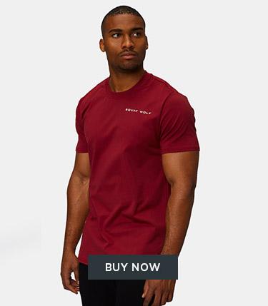 Squat Wolf - Men - Muscle Fit Top - Dubai Red