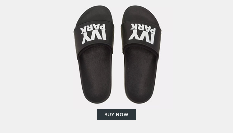 IVY PARK PRINTED LOGO POOL SLIDES