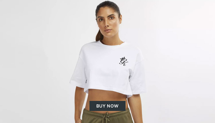 GYM KING KOURTNEY CROP T-SHIRT