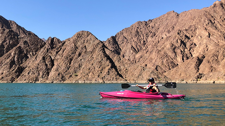Kayaking in Hatta, Abu Dhabi, UAE